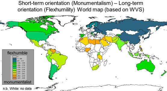 geert hofstede long term orientation Interpreting hofstede model and globe model: which way to go for cross-cultural research is long-term orientation (lto) and was applied to 23 countries.